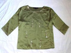 MARC JACOBS MAINLINE COUTURE RUNWAY COLLECTION SILK BOXY BEADED POCKET TEE TOP 4
