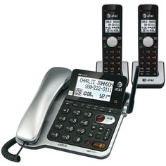 Att Dect6.0 Corded And Cordless Phone With Call Waiting & Caller Id, 2-handset