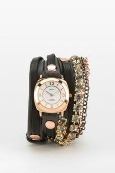 e29015caf9a La Mer Astoria Crystals Wrap Watch