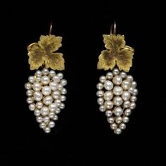 Earrings ca. 1850 via The Victoria & Albert Museum - what a beautiful example of balance and elgance!