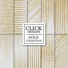 GOLD LINES OVERLAY ClipArt: Gold Glitter Sparkle by ClickDesigns