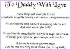 fathers day poems from little daughter