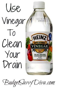 Every 3 months pour half a bottle of vinegar down the drain – let it sit for 30 minutes and run hot water for 1 minute. It will help keep your sink's pipes nice and unplugged. If you have a tough clog, add a tablespoon or two of baking soda first, then pour the vinegar…let it sit for 15 -30 minutes and then flush with hot water, amazing! Side benefit to this method: If any baking soda remains, it makes for an awesome cleaning agent to just wipe up your sink!