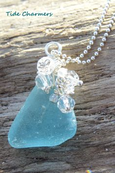 Hey, I found this really awesome Etsy listing at https://www.etsy.com/listing/235266871/genuine-sea-glass-necklace-blue-sea