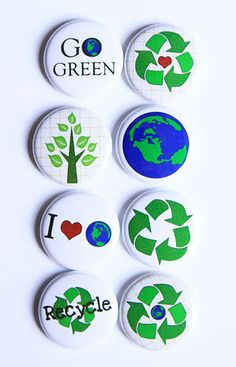 Go Green/Recycle Flair by kidsmom1999 on Etsy, $6.00