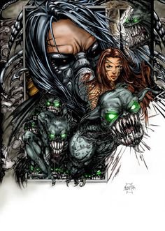 #Darkness #Fan #Art. (Witchblade and The Darkness) By: MelikeAcar. (THE * 5 * STÅR * ÅWARD * OF: * AW YEAH, IT'S MAJOR ÅWESOMENESS!!!™) ÅÅÅ+