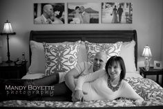 So this is a maternity picture, but I love the canvas prints from their wedding above the bed. I may have to do that!