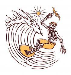 Image by Shutterstock Psychedelic Blue Skull Key Art Tee Men/'s