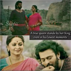 This is what Indian women are about they stand with her husband no matter how bad the situation may be. Best Love Quotes, Amazing Quotes, Bahubali 2, Bahubali Movie, Prabhas And Anushka, Filmy Quotes, Love Post, Qoutes About Love, Movie Lines