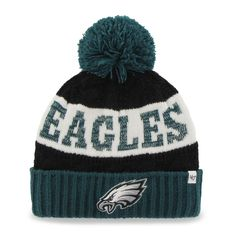 7845a31ef82 Women s Philadelphia Eagles  47 Brand Midnight Green Swanson Cuff w Pom Knit  Beanie