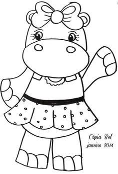 Coloring Pages To Print Book For Kids Sheets Colouring Hippo Crafts Drawing Digi Stamps