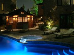 Exterior Captivating Outdoor Lighting Ideas For Awesome Pool - pictures, photos, images
