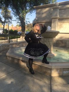 An International Lolita Day coordinate by kiracatlover of Tumblr, using a Nightmare Rising JSK.