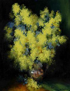 Dudley Drew _  Golden Wattle in a Vase