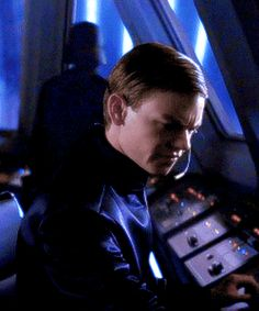 """""""We have an unsanctioned departure from bay two."""" ∟ Thomas Brodie-Sangster in Star Wars: The Force Awakens gif"""