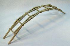 The beautifully simple Da vinci bridge.