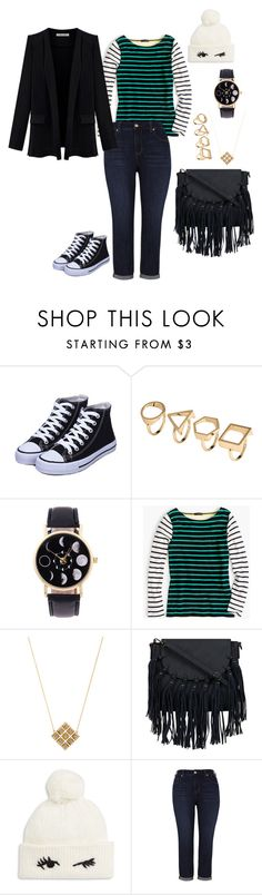 """Outfit #25"" by allieemet on Polyvore featuring J.Crew, House of Harlow 1960, Kate Spade, Melissa McCarthy Seven7 and plus size clothing"