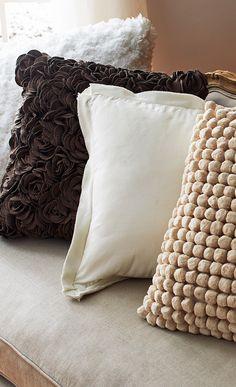 Neutral throw pillows