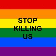 STOP KILLING US (rainbow flag gif) Orlando Pulse Response. #WeAreOrlando #StopKillingUS