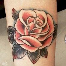 tatouage fleur rose tattoo (9)