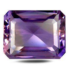 Ametrine 110786: 11.98 Ct Aaa Tremendous Octagon Shape (15 X 12 Mm) Purple And Yellow Ametrine -> BUY IT NOW ONLY: $44.99 on eBay!