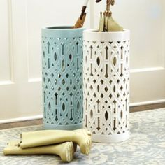 Vine Umbrella Stand--for that corner by the door Macy always tries to jump in? Cute and functional!   Ballard Designs