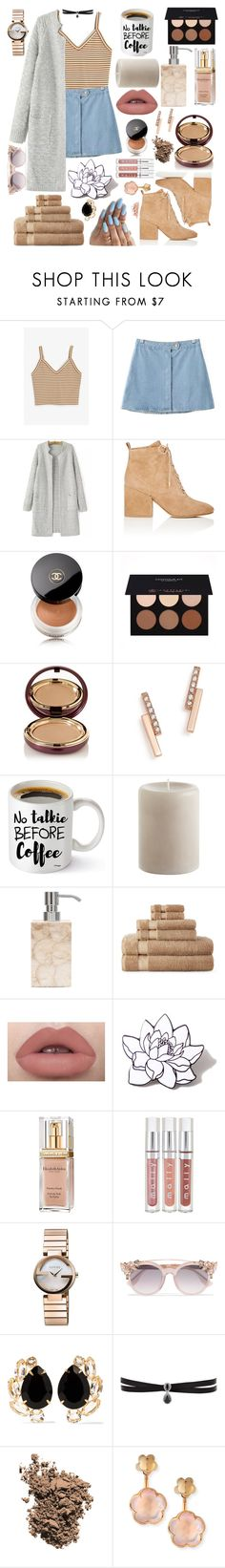 """Good morning//"" by arianaclq0129 ❤ liked on Polyvore featuring Monki, Chicnova Fashion, Sam Edelman, Chanel, Anastasia Beverly Hills, Wander Beauty, ZoÃ« Chicco, Pier 1 Imports, Pigeon & Poodle and Royal Velvet"
