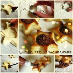 Estrellas de hojaldre con ganache de chocolate https://www.facebook.com/bakinglovewithkrisztina/photos/pb.180615995297540.-2207520000.1422399286./551349958224140/?type=3&theater