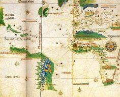 82c. 1502 Le Planisphere de Cantino Trois feuilles de parchemin 2200x1050 mm Modene Bibliotheque Estense kopia.jpg (700×567)