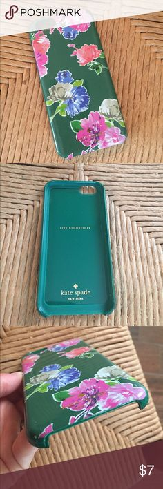 Kate Spade iPhone 6 case Super cute case for iPhone 6. Tiny crack at bottom corner and a few scuffs on corners but not really noticeable and still functional. kate spade Accessories Phone Cases