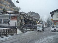Street near Papperla pub in Zermatt (CH).