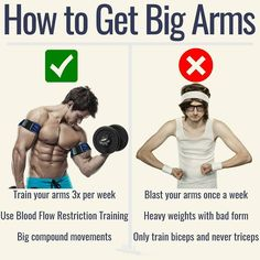 """HOW TO GET BIG ARMS - If you want to get big arms you need to train them more than once per week. - This is the biggest misconception with arm training. """"My arms get so sore if I train them once per week how can I train them more often?!"""" - Listen if you"""
