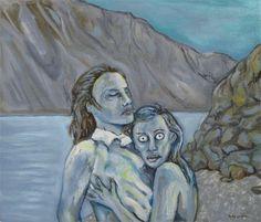 Closeness  Original Oil Painting on Linen by kellygormanartwork