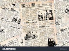 Old Irish newspapers background