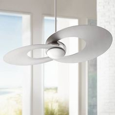 A hand held remote control makes it easy to control this energy efficient LED ceiling fan.