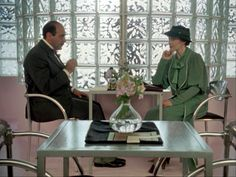 Poirot (David Suchet) and Miss Lemon (Pauline Moran) from the beloved TV series Agatha Christie's Poirot. I love the clothes she wears and the details of the rooms. Best Mysteries, Murder Mysteries, Cozy Mysteries, Agatha Christie's Poirot, Hercule Poirot, Detective, Death In The Clouds, I Love The World, David Suchet