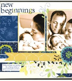 Are you celebrating a new arrival in your family? Love this layout from @DCWV Inc.