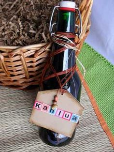 Homemade Kahlua in a Bottle  I love Kahlua and plan to make this..look out it may be gifts next Christmas.  This looks like a great site.