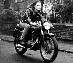 Vintage Ducati 250 Girl