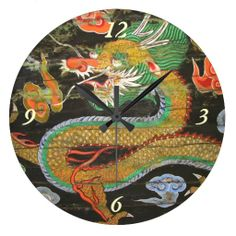 Dragon painting on the Korean ceiling of Sungnyemu Wall Clock