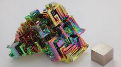 Grow an iridescent crystal from a plain metal fishing sinker