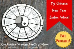 Learn about the Chinese New Year with this fun FREE My Chinese New Year Zodiac Wheel!