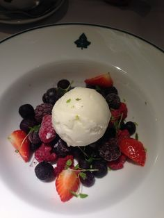 Berries and ice cream at The Ivy Garden, Chelsea