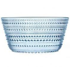 "Fantastic green Kastehelmi glassware serving bowl. $46   BTW, ""Kastehelmi"" is Finnish for ""dewdrop"". Perfect. Want."