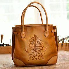 shopper bag DORA, tan vzor,  M