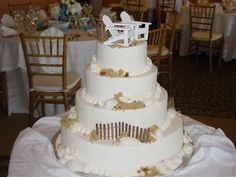 Outdoor Themed Wedding Cakes | ... your big day without spending big $$$: Beach themed wedding cakes