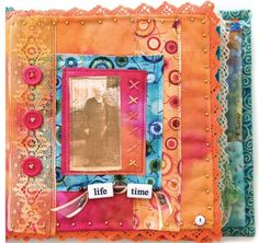 Free Article Download: Mixed-Media Sample Book by Karen Turner from Sew Somerset | Somerset Place The Official Blog of Stampington  Company