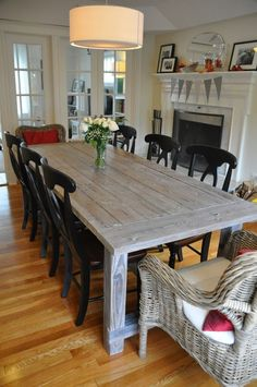 Ana White   Farmhouse Table with Extensions - DIY Projects