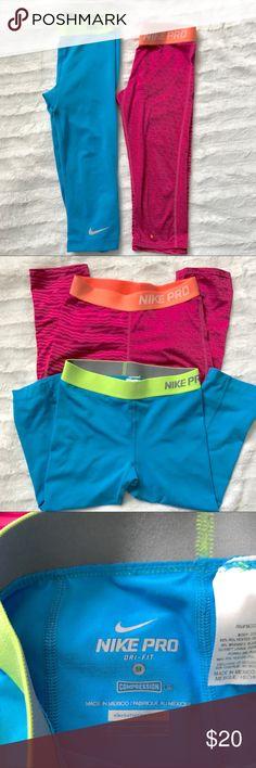 Nike pros 2 Nike pro capri length leggings Nike Bottoms Leggings