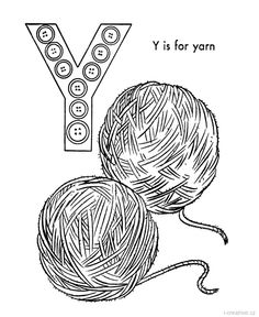 yarn coloring page printable - 670×820